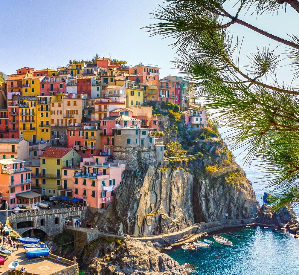 Pittoreska hus i Cinque Terre