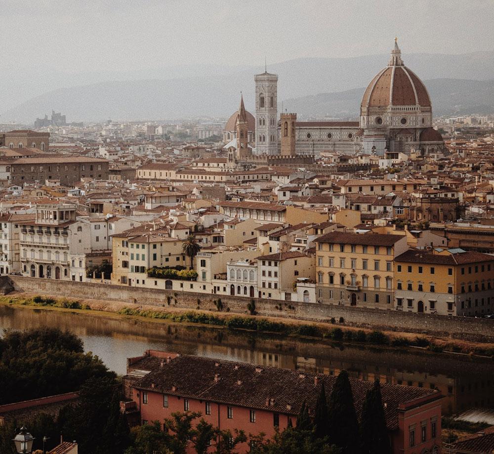 Vackra vyer över Florens