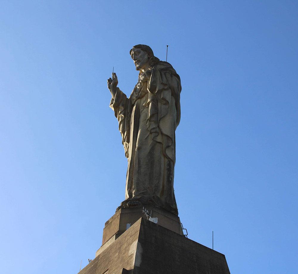 Jesusstaty i San Sebastián