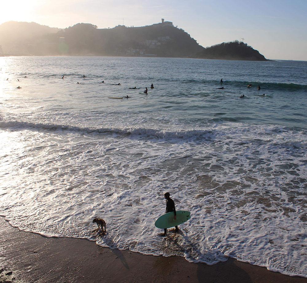 Surfa i San Sebastián