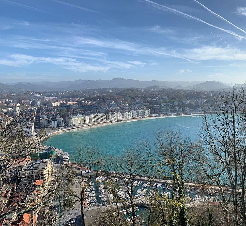Utsikt över San Sebastián