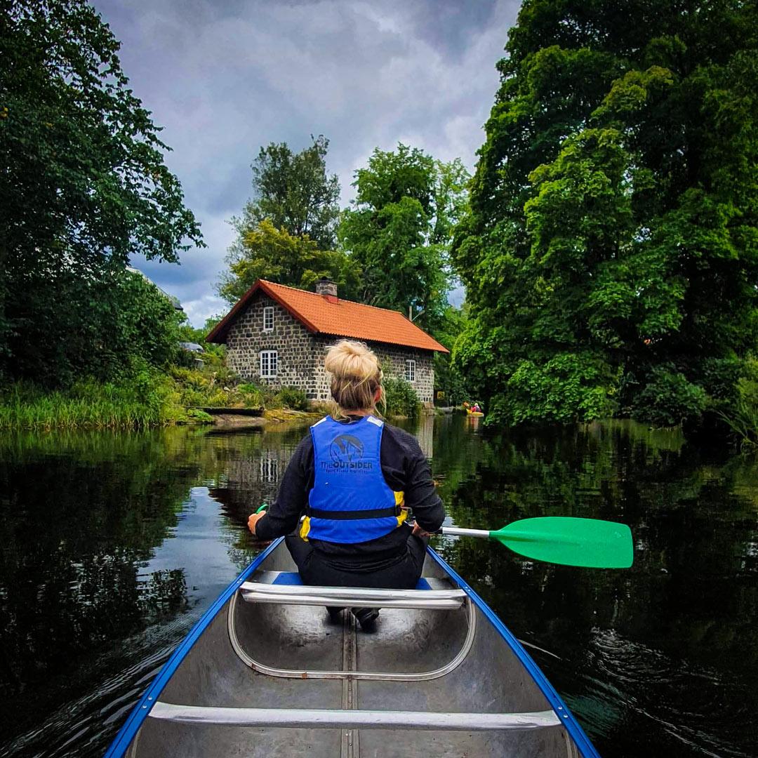 Paddla kanot på Borgviksälven